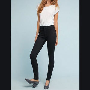 Anthro Pilcro Black skinny high rise jeans NWT